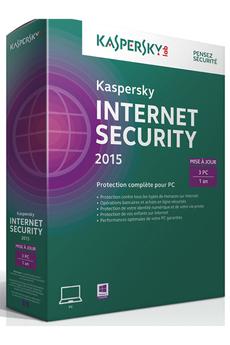 Logiciel Kapersky Internet Security 2015 - Mise à jour 3 postes/1 an Kaspersky