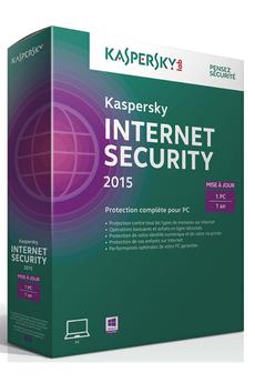 Logiciel Internet Security 2015 - Mise à jour 1 poste/ 1an Kaspersky