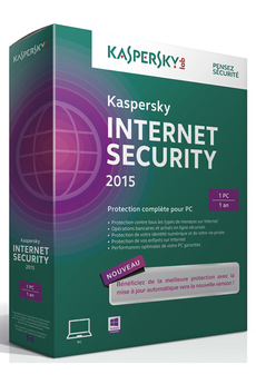 Logiciel Internet Security 2015 - 1 poste /1 an Kaspersky