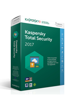 Logiciel Total Security 2017 5 postes / 1 an Kaspersky