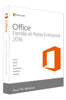 Logiciel Microsoft Office Home and Business 2016