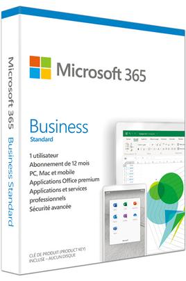 Microsoft 365 BUSINESS STANDARD - 1 AN D'ABONNEMENT - 1 PERSONNE