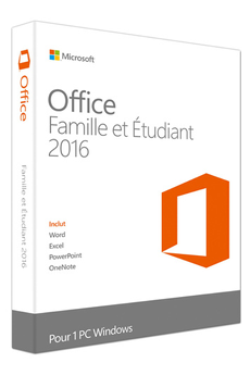 Logiciel Office Home and Student 2016 Microsoft