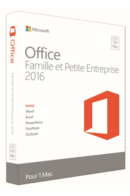 Logiciel Microsoft Office Mac Home & Business 2016