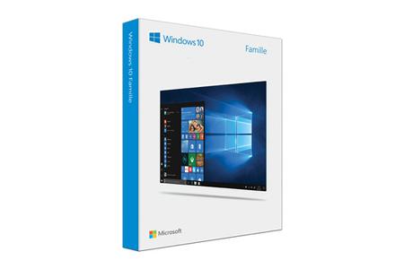 Logiciel Microsoft Windows 10 Famille