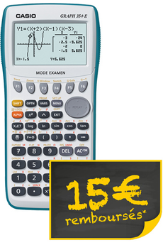 Calculatrice graphique GRAPH 35+ E Casio