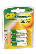 Pile rechargeable Gp NM1000 LR03 X4