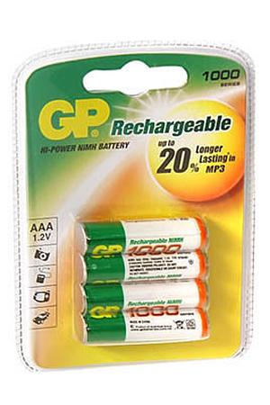 Pile rechargeable Gp NM1000 LR03 X4