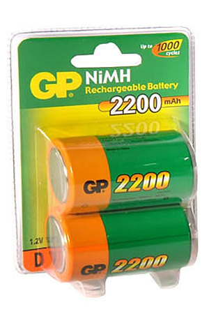 Pile rechargeable Gp NM2200 LR20 X2