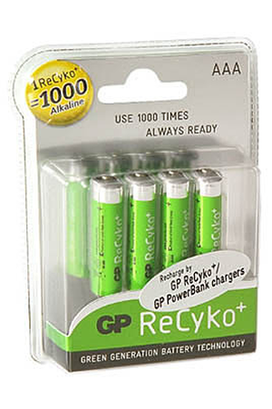 Pile rechargeable Gp NM RECYKO LR03 X4