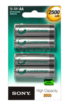 Pile rechargeable LR06 AA x4 2500 mAh Sony