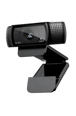 Webcam HD pouvant se fixer et se placer dans de nombreux endroits Lentille avec mise au point automatique HD 1080p Carl Zeiss® Microphone et témoin d'activité Clip/base flexible et filetage de fixation pour trépied