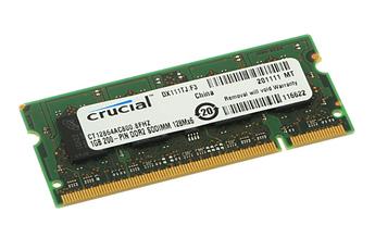 Barrette mémoire 1 Go DDR2 800 MHz CL6 Crucial