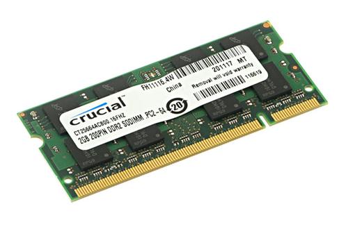 Barrette mémoire DDR2 2GB 800MHZ CL6 Crucial