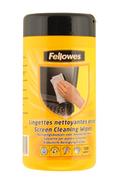 Nettoyage informatique Fellowes Boîte de 100 lingettes nettoyantes pour écran