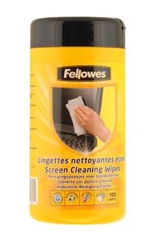 Nettoyage informatique Boîte de 100 lingettes nettoyantes pour écran Fellowes