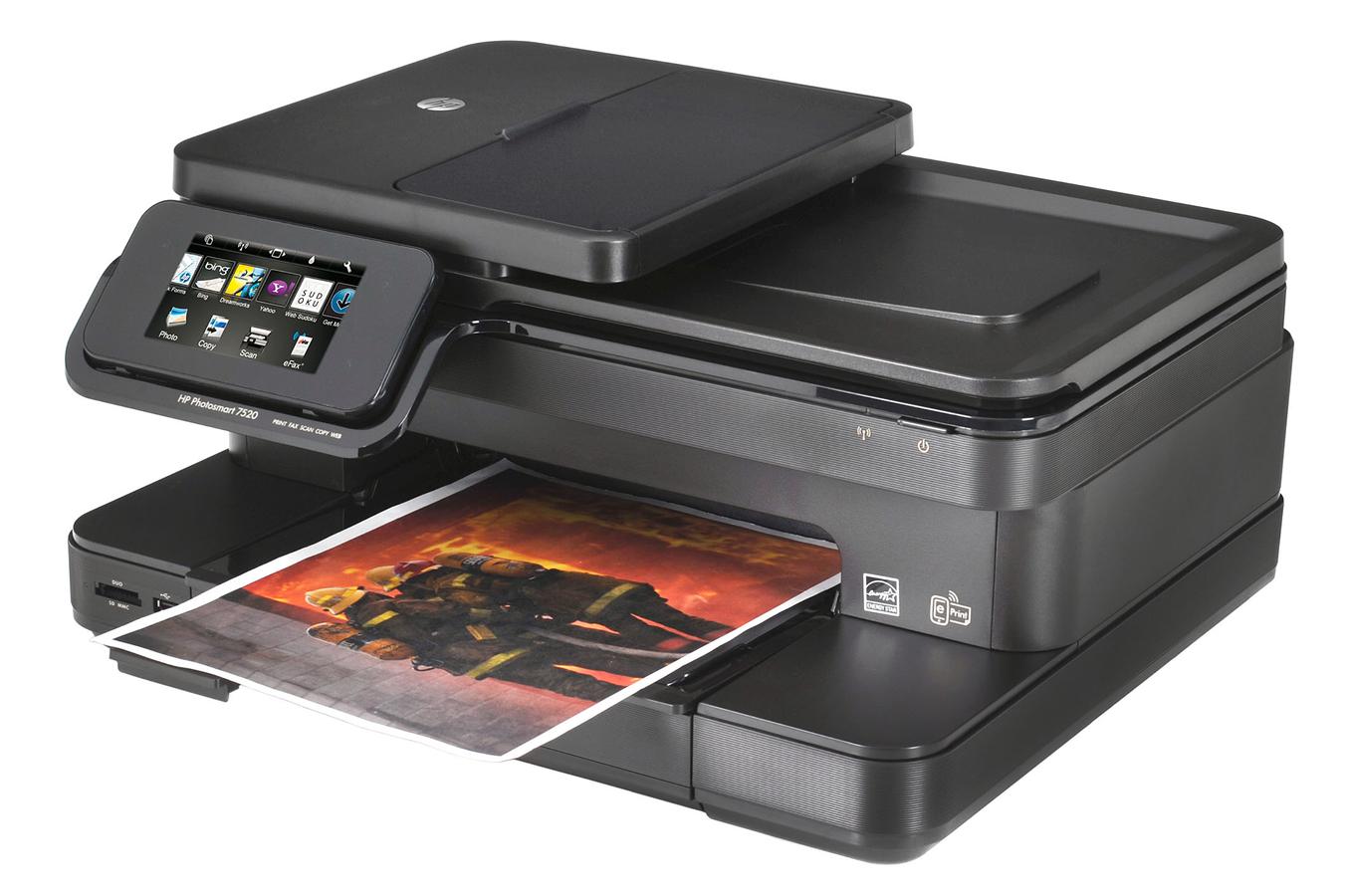 imprimante jet d 39 encre hp photosmart 7520 e all in one. Black Bedroom Furniture Sets. Home Design Ideas