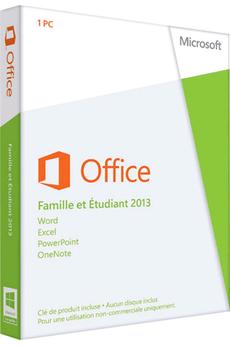 Logiciel Microsoft Office Famille et Etudiant 2013 - 1 PC