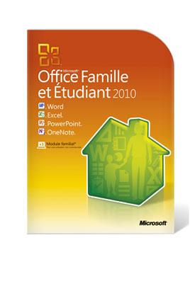 Microsoft OFFICE FAMILLE ETUDIANTS 2010 (3 USERS)