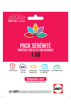 Logiciel PACK SERENITE 1 AN Darty