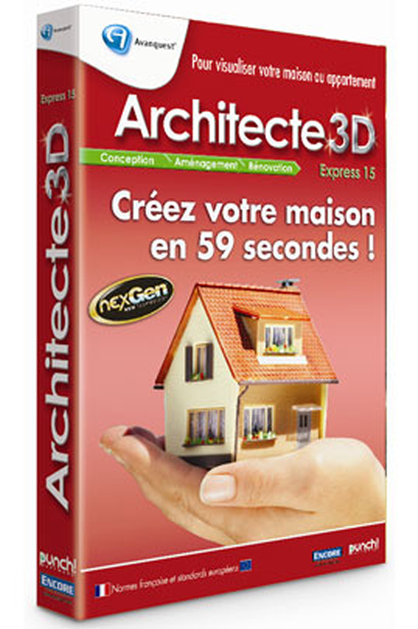 Logiciel micro application architecte 3d express 15 for 3d architecte micro application