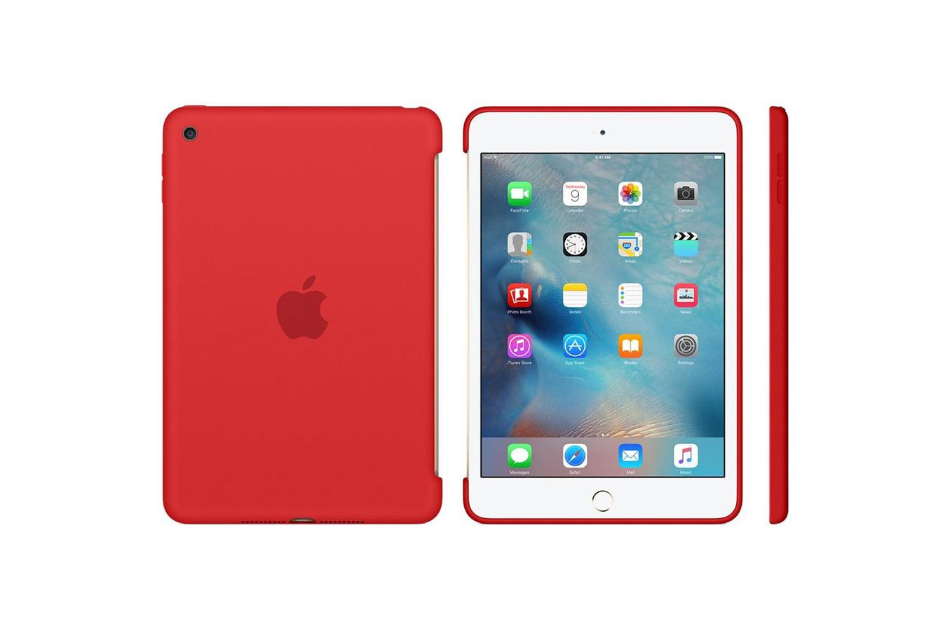 housse et tui pour tablette apple coque en silicone rouge. Black Bedroom Furniture Sets. Home Design Ideas