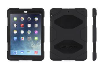 Housse et étui pour tablette COQUE SURVIVOR noire pour iPad AIR Griffin