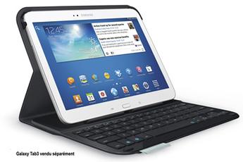 Housse et étui pour tablette Ultrathin Keyboard Folio pour Galaxy Tab 3 10.1 Logitech