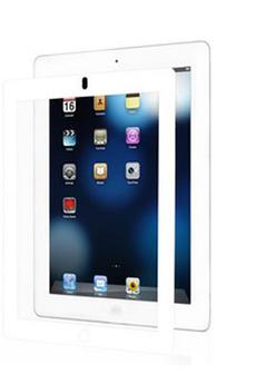 Protection d'écran pour tablette Film protecteur cadre blanc iPad 2, iPad 3ème gén. et iPad Retina Moshi