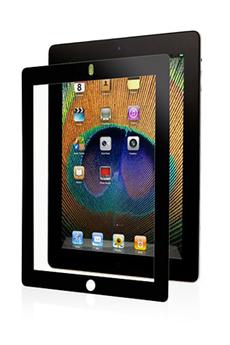 Protection d'écran pour tablette Film protecteur cadre noir iPad 2, iPad 3ème gen. et iPad Retina Moshi
