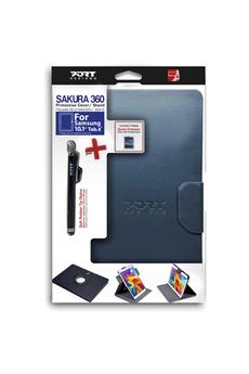 """Housse et étui pour tablette Pack Sakura étui rotatif gris + stylet + film protecteur pour Samsung Galaxy Tab 4 10"""" Port"""
