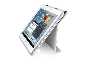 """Housse et étui pour tablette Etui à rabat blanc pour Galaxy Tab 2 10,1"""" Samsung"""