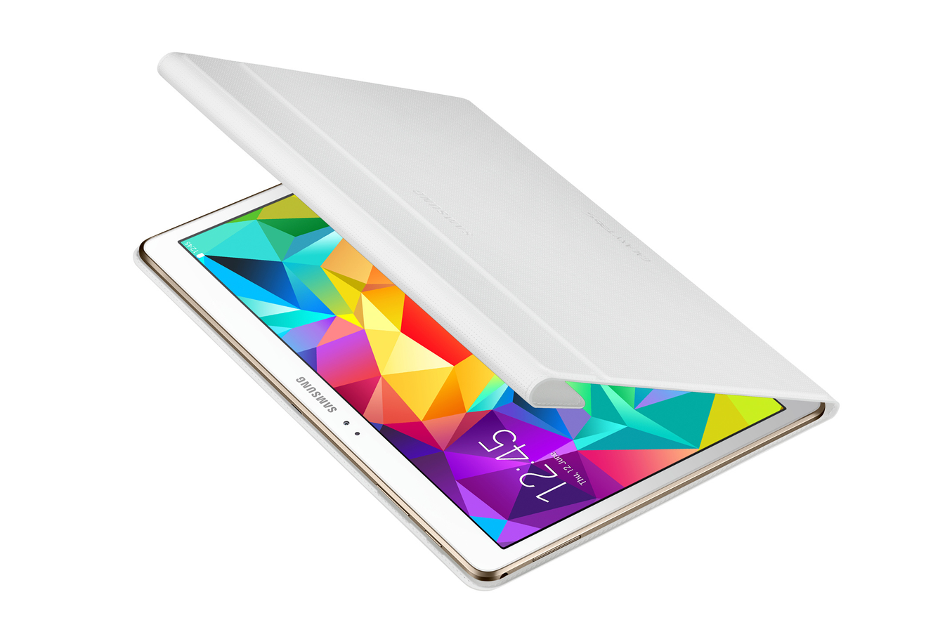 Housse et tui pour tablette samsung simple cover blanche for Housse tab s2 8