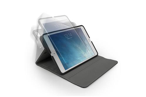 Etui de protection noir Pour iPad mini 1,2,3 et 4 Rotation intérieure à 360° - Fonction veille / réveil auto