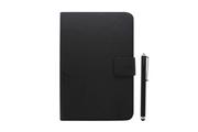 """Temium Pack étui folio universel noir pour tablettes 7-8""""+ stylet"""