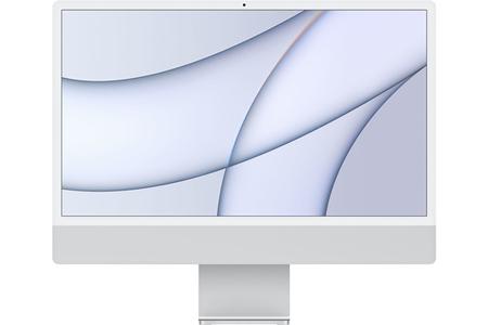 """iMac Apple iMac 24"""" 256 Go SSD 8 Go RAM Puce M1 CPU 8 cœurs GPU 7 cœurs Argent Nouveau"""