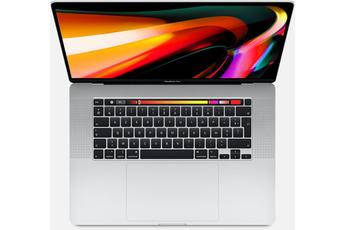MacBook Apple Nouveau MacBook Pro Touch Bar 16 Retina Intel Core i7 9ème génération à 2,6GHz 16Go Ram 512Go SSD Argent