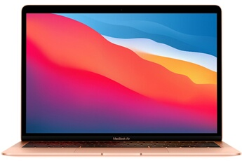 "MacBook Apple MacBook Air 13"" 256 Go SSD 16 Go RAM Puce M1 Or Nouveau"