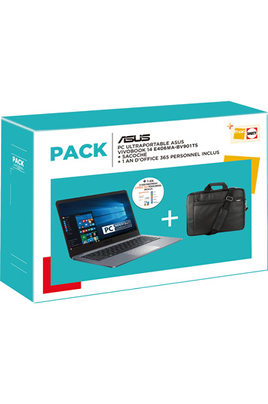 Asus E406MA-BV901TS + SACOCHE + 1 AN D'OFFICE 365 PERSONNEL INCLUS