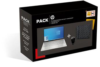 PC portable Hp PACK HP ENVY 13-ba0024nf + Housse HP réversible géométrique + Souris 250