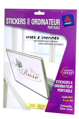 papier d 39 impression avery dennison stickers pour. Black Bedroom Furniture Sets. Home Design Ideas