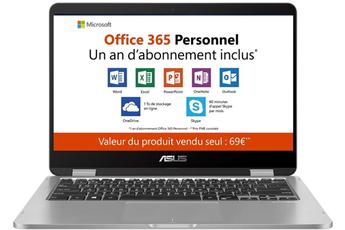 PC Hybride   PC 2 en 1 TP401MA-BZ069TS + Office 365 Personnel inclus Asus 9e8cdeaf0d23