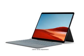 PC Hybride / PC 2 en 1 Microsoft Surface Pro X - Microsoft SQ2T, 16Go RAM, 256Go SSD - Noir