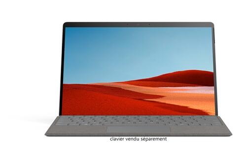 Microsoft Surface Pro X - Microsoft SQ2™, 16Go RAM, 256Go SSD - Platinium