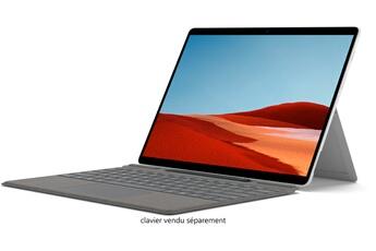PC Hybride / PC 2 en 1 Microsoft Surface Pro X - Microsoft SQ2T, 16Go RAM, 256Go SSD - Platinium