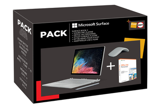 PC Hybride / PC 2 en 1 Microsoft MS SURFACE BOOK 2 I5/8GB/256GB + adaptateur + pentip +stylet + sour