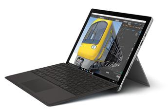 PC Hybride / PC 2 en 1 SURFACE PRO 4 i5 8G 256 GO AVEC TYPE COVER NOIR Microsoft