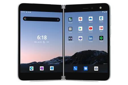 PC Hybride / PC 2 en 1 Microsoft Surface Duo 6Go Ram 128GB 4G+ Glacier