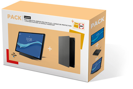 Tablette tactile Lenovo Pack M10+ 10.3'' 128Go Wifi Grise + Station d'accueil + Folio