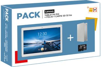 """Tablette tactile Lenovo LENOVO PACK TABLETTE P10 10.1"""" 64GO WIFI SPARKLING WHITE + MICRO SD 32G"""